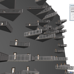 Alternativas vistas no Archicad.